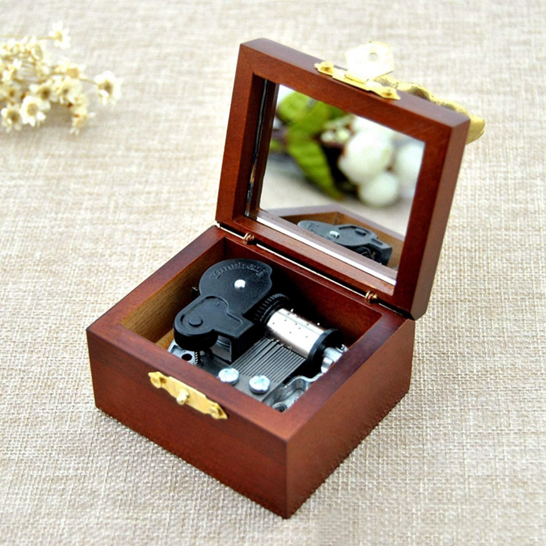 Anlydia Vintage Phonograph Design Music Box Gift for Christmas