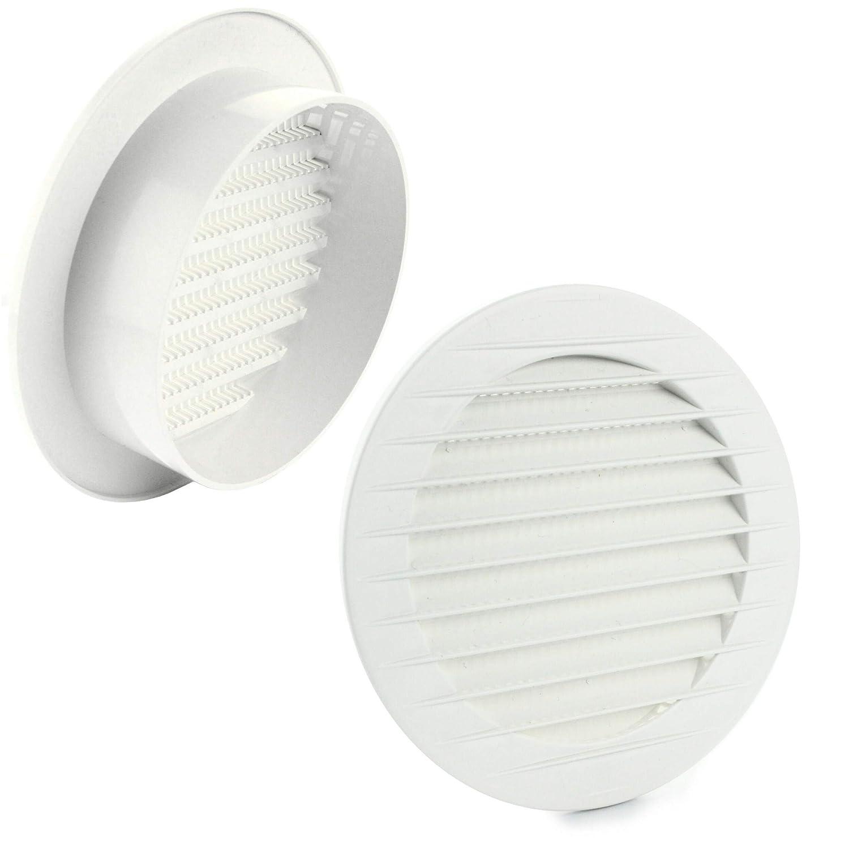 blanc MKK/ /17969/ /abluft Grille de ventilation Grille ext/érieure Grille anti-insectes Blanc Gris Marron 60/70/80/90/100/mm
