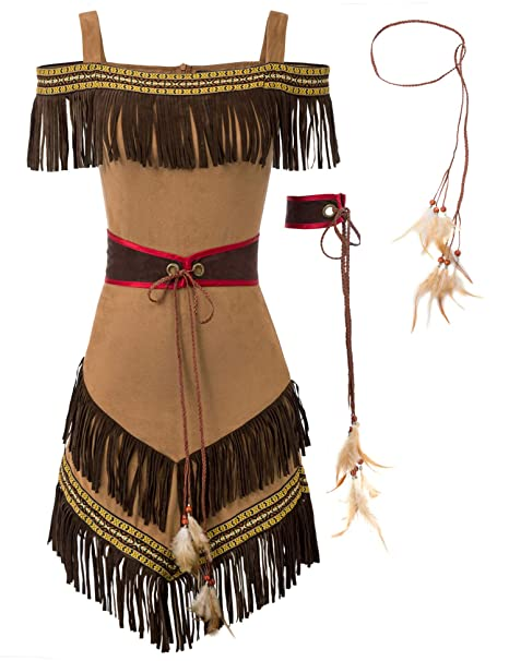 Tribal Maiden Native American Indian Adult Costume