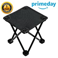 Garne T Mini Portable Folding Stool,Slacker Chair Outdoor Folding Chair for Camping,Fishing,Travel,Hiking,Garden,Beach, Quickly-Fold Chair Summer Oxford Cloth with Carry Bag