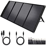 TWELSEAVAN 120W Portable Foldable Solar Panel Charger for Jackery Explorer 160/240/500 Power Station/Suaoki S270/Goal Zero Ye