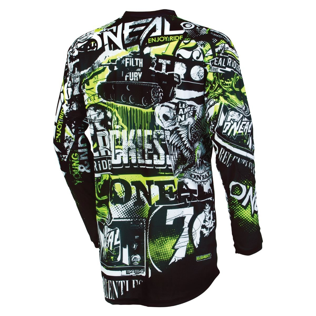 ONeal Unisex-Adult Element Attack Jersey Black//Hi-Viz Medium