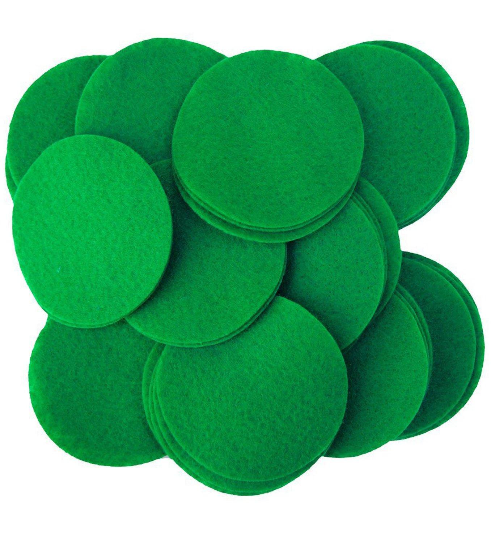 Playfully Ever After 2 Inch Green 44pc Felt Circles PEA-FELT-2INDOT-50Green