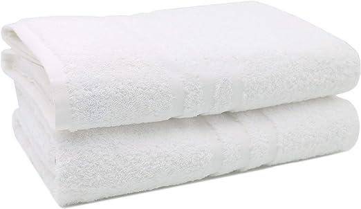 ZOLLNER 2 Toallas de baño Grandes Blancas, 100x150 cm, 550 gr ...