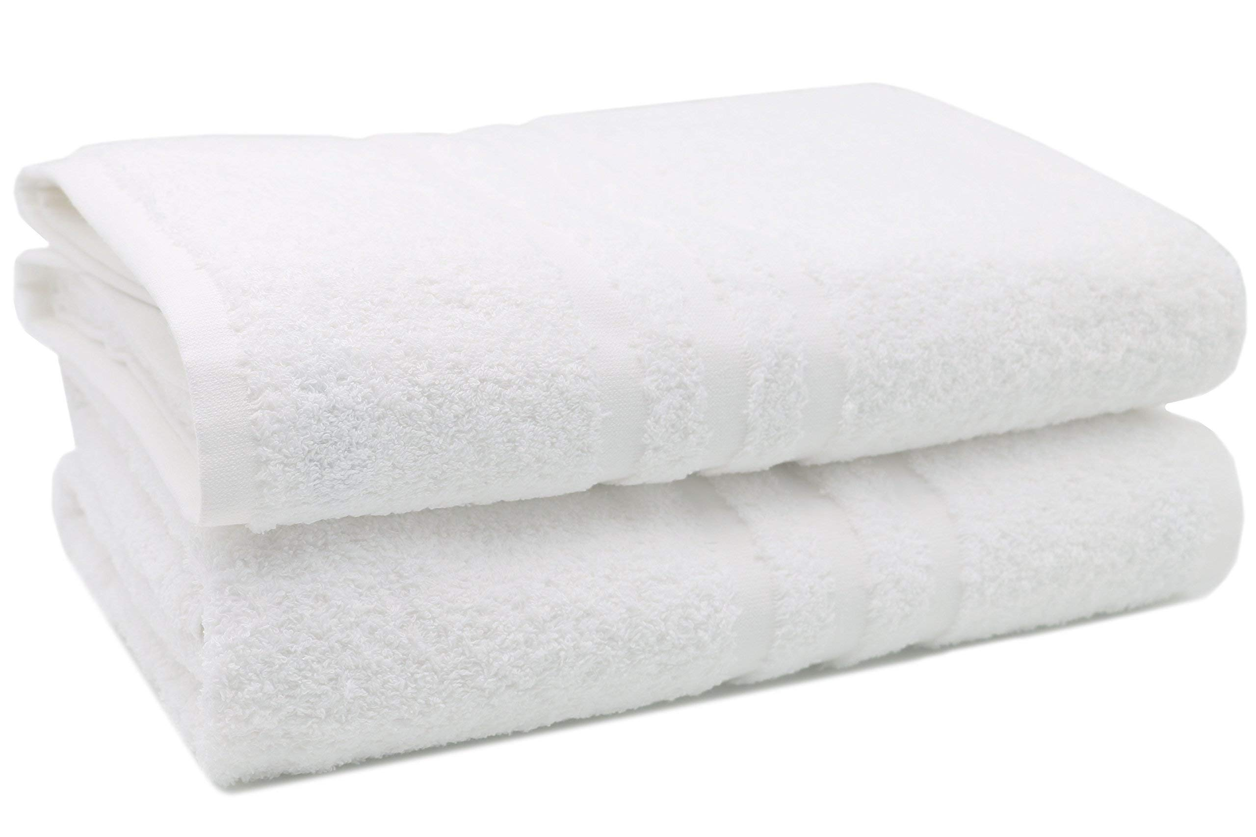 ZOLLNER 2 Toallas de baño Grandes Blancas, 100x150 cm product image