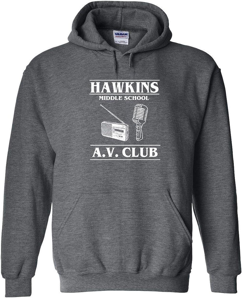 Club Funny Hooded Sweatshirt Swaffy Tees 538 Hawkins A.V
