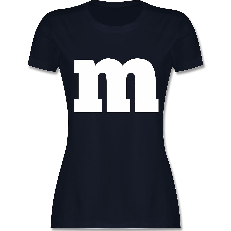 Karneval & Fasching - Gruppen-Kostüm m Aufdruck - Damen T-Shirt Rundhals Shirtracer L191