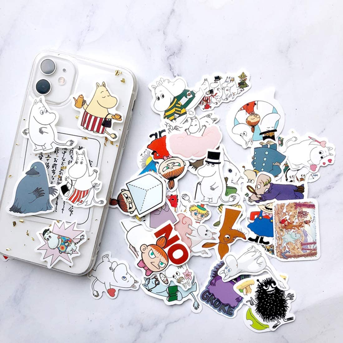 16Pcs Lovely Cute Dumbo Waterproof Stickers for Water Bottle Cup Laptop Bike Skateboard Luggage Box Vinyl Graffiti Patches BRWJ