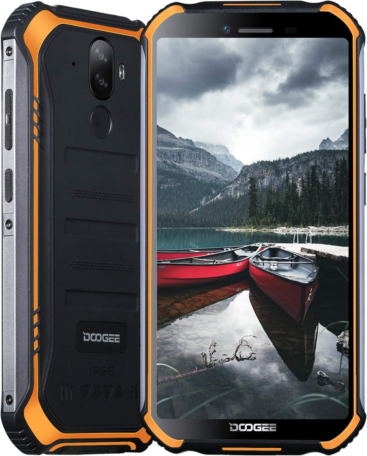 Móviles Libres, DOOGEE S40 Pro Móvil Resistente, 4GB + 64GB(SD 256GB), Cámara 13MP+2MP, Cámara Frontal 5MP, 4650mAh Movil Antigolpes, Android 10 Smartphone 4G de 5.45