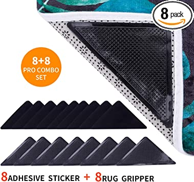 Rug Grippers Anti Curling Rug Non Slip Pad Carpet Place Holder Grip Skid Mat Pro