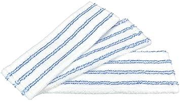 com-four® 3 Cubiertas de reemplazo de microfibras para limpiaparabrisas con Soporte Plegable (