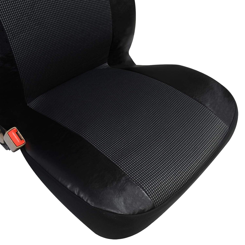 WOLTU AS7324 Universal Auto Sitzbez/üge f/ür Transporter 1+2 Sitzbezug Schonbez/üge aus Polyester /& Kunstleder Schwarz-Rot