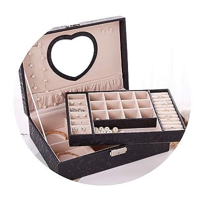 Amazon Com C J Shop 2019 Leather Jewelry Box Double Layer
