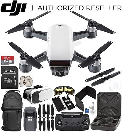DJI Spark Portable Mini Drone Quadcopter (Alpine White) + DJI Spark Remote  Controller Starter Bundle