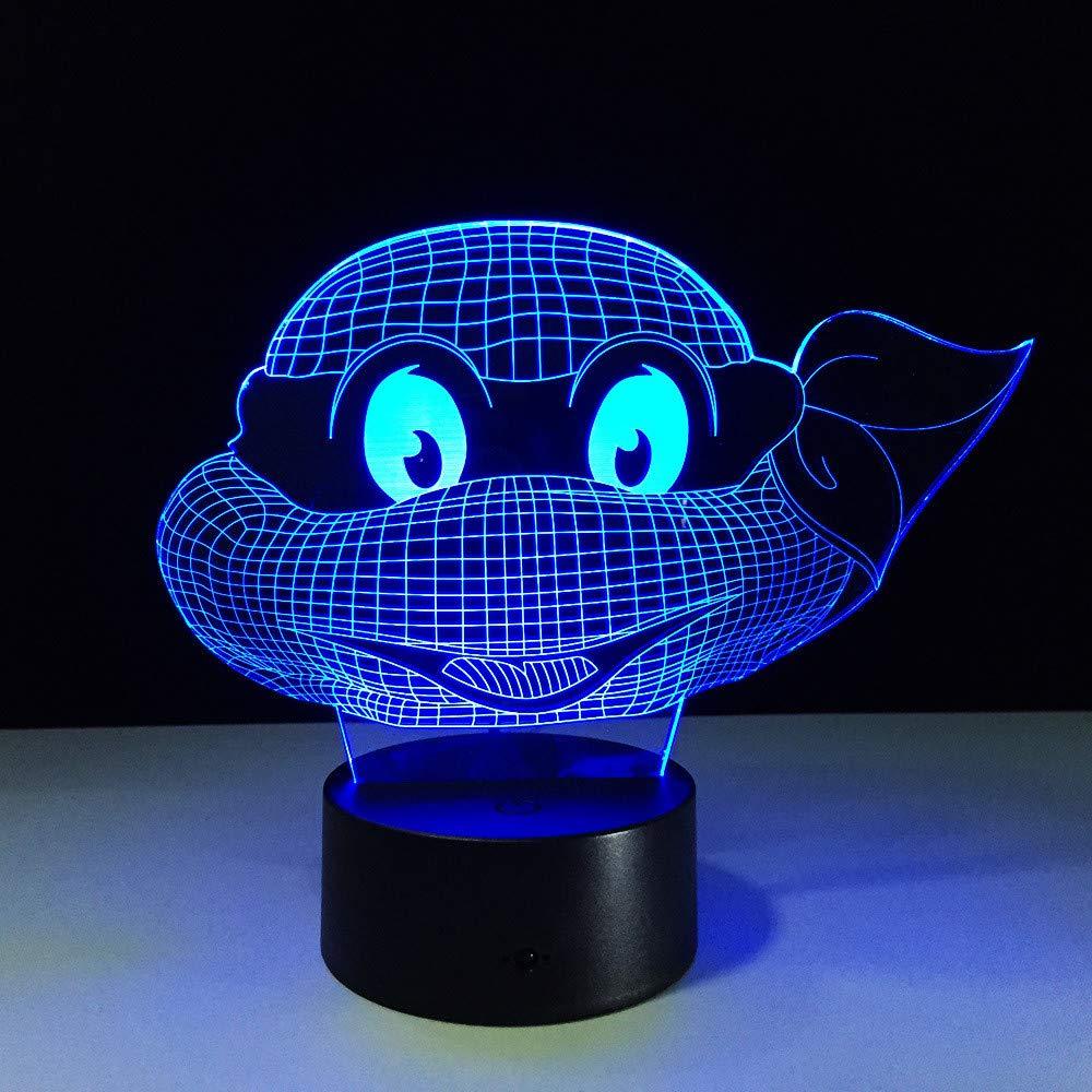 FaceToWind Mutant Ninja Turtles LED lámpara 7 Colores ...