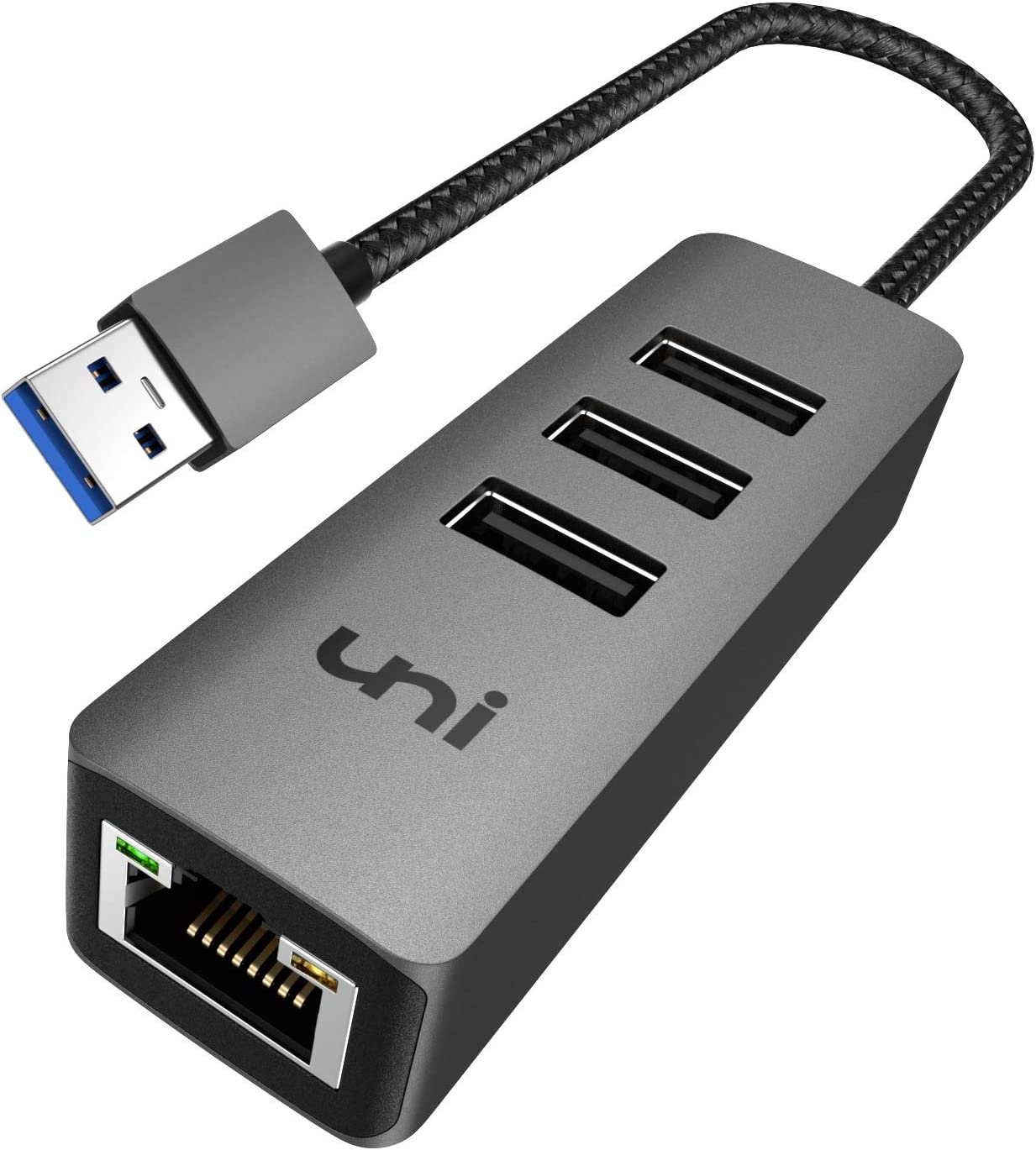 Broonel USB Ethernet USB Network Adapter,LAN Adapter with Multi USB 3.0 Ports Compatible with The Acer ConceptD 9 D 9 Ezel