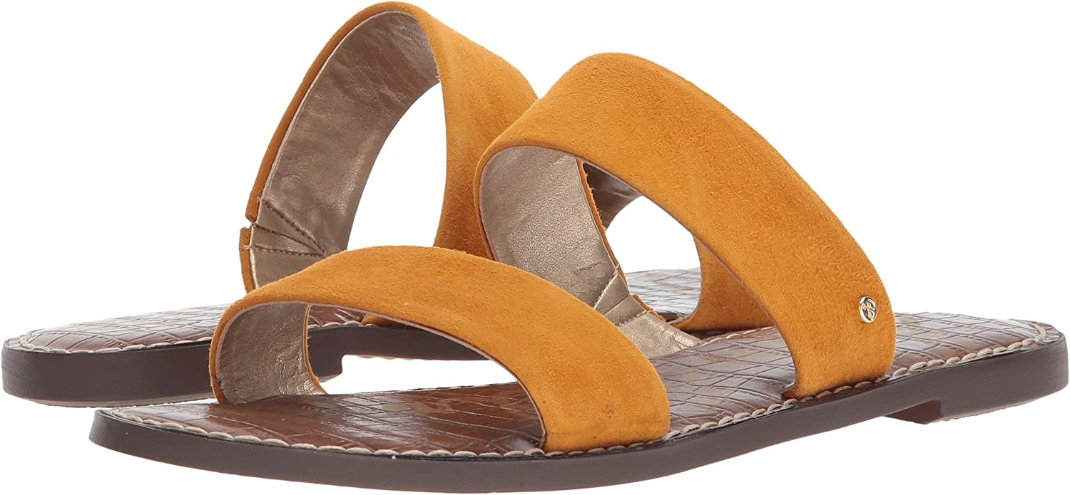 Sam Edelman Women's Gala Slide Sandal B005AYW6MG 6.5 W US|Yellow Kid Suede Leather