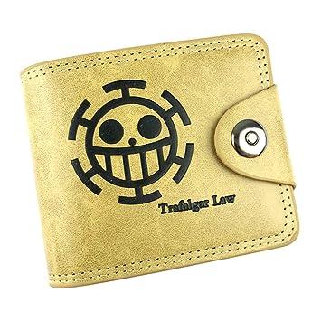 Cosstars One Piece Anime Cartera de Cuero Artificial Monedero Tríptico Billetera Clásico Portatarjetas para Hombre /1: Amazon.es: Equipaje