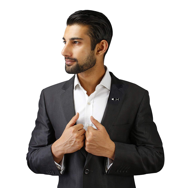 The Jewelbox Pen Writer Black Rhodium Plated Brass Formal Shirt Blazer Suit Lapel/Brooch Pin Men Gift Box by The Jewelbox (Image #5)