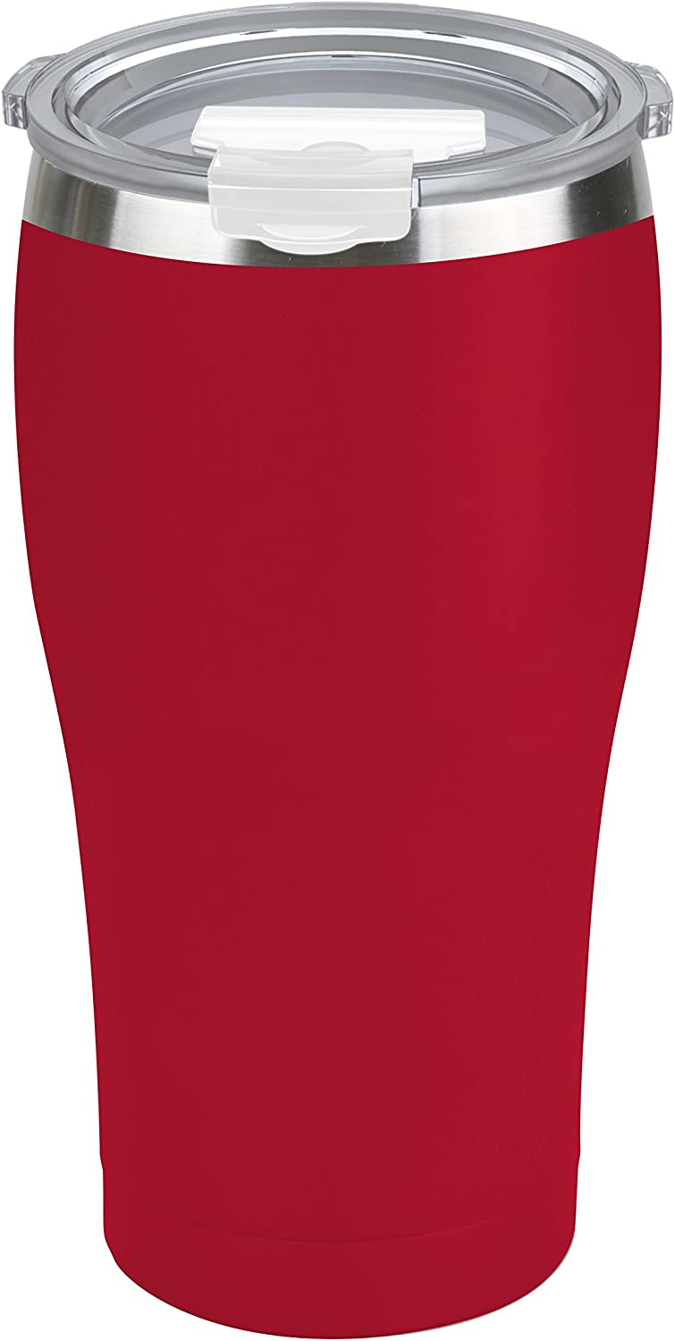 Tahoe Trails 30 oz Stainless Steel Tumbler Vacuum Insulated Double Wall Travel Cup With Lid, Red