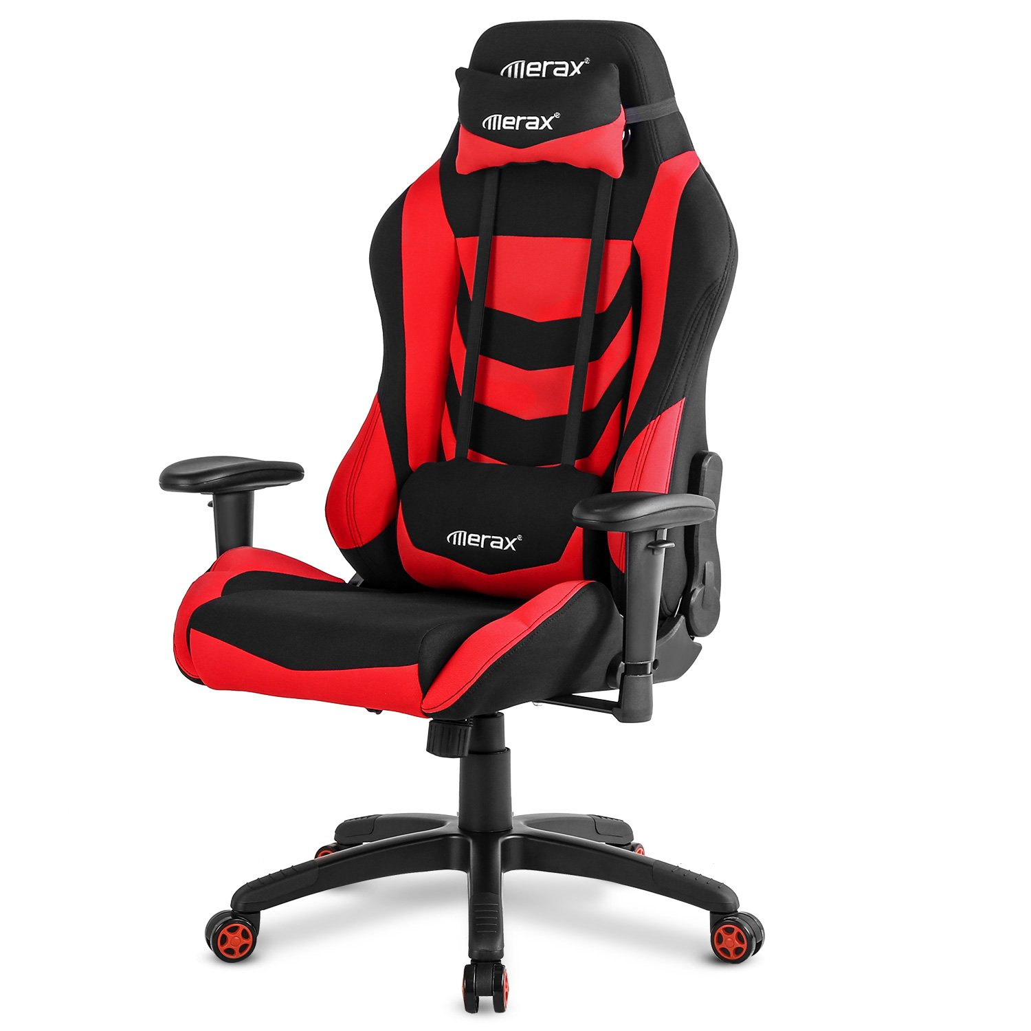 Merax Racing Style Office Chair Gaming Ergonomic with Adjustable Armrests Home Office Computer Chair (Red)