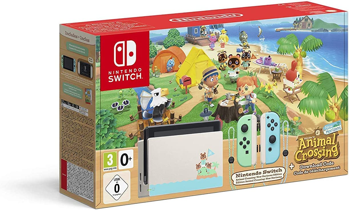 Nintendo Switch consola 32gb Verde/turquesa Neón Animal Crossing (Edición Limitada) + Animal Crossing New Horizons: Amazon.es: Videojuegos