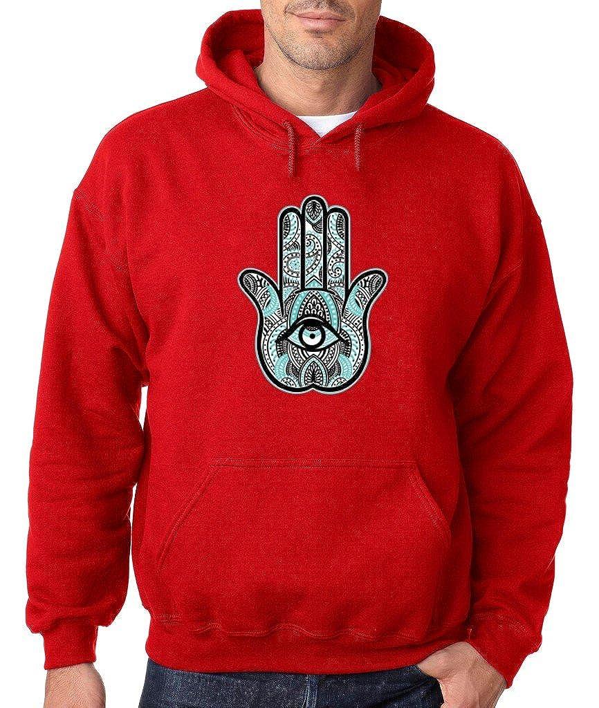 VISHTEA Hamsa Hand Chakra Yoga Hoodie Hamsa Yoga Gym Sweatshirt