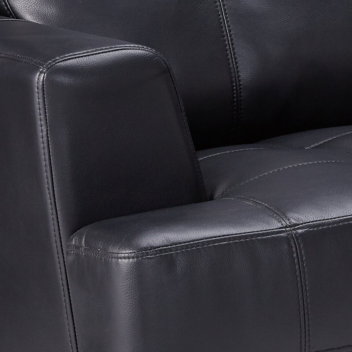 Samuel Leather Loveseat Black