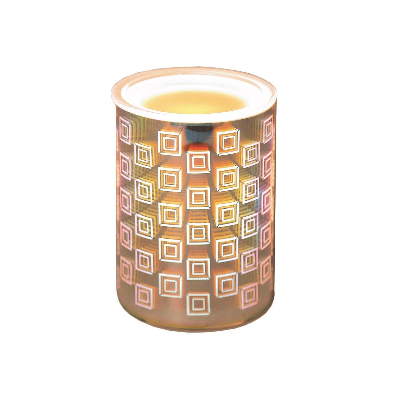 3D Square Design Electric Wax Melt Burner Lamp Scented Tart Fragrance Aroma Warmer 14cm Tooltime®