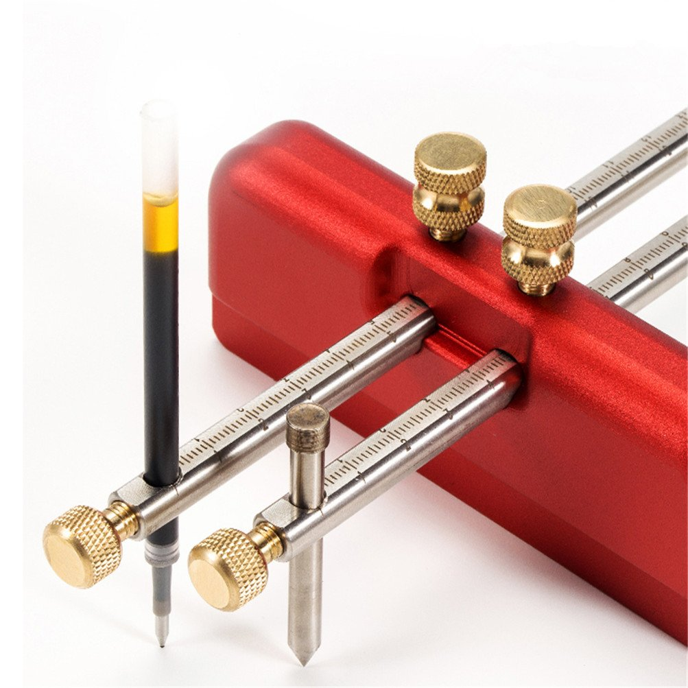 Ascendons Adjustable Aluminum Alloy Marking Gauge Wood Scribe Mortise Gauge DIY Woodworking Scribing Tool