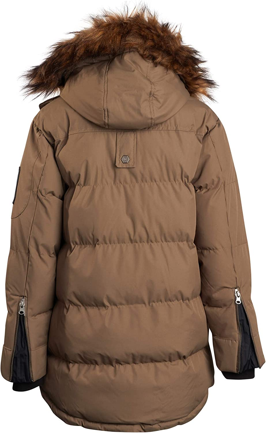 J Whistler Boys Heavyweight Parka Puffer Jacket with Removable Hood