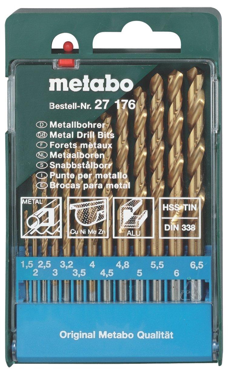 Metabo - Broca para metal hs hss-tin 13 piezas 627176000