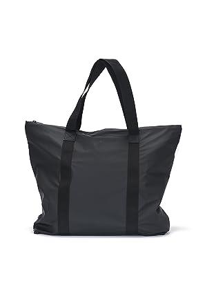 Amazon.com  Rains Tote Shopper Bag One Size Black  Clothing 14f631d16