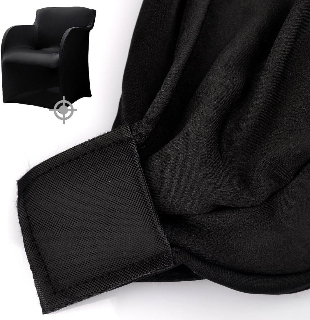 zhaoke lesiure Spandex silla funda el/ástica silla con reposabrazos funda protectora pantalla para jard/ín de casa oficina cover Only, Not Include Chair elastano 1 unidad Black
