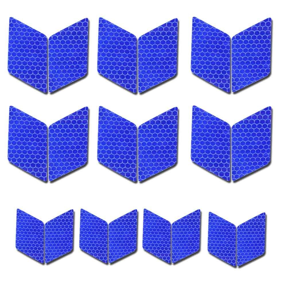 Diamond shape Reflective Tape Waterproof Self-Adhesive For Trucks Trailers Car Park Traffic Warning Caution Conspicuity Tape Tape-Reflective Tape 10 packs Blue