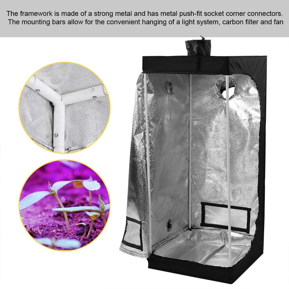 Grow Tent Portable Hydroponic Indoor Bud Green Plant Grow Room Plant Gardening Growth Canopy Hydro Box 600D Oxford 60X60X140CM Premium Garden Greenhouse