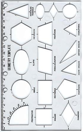enorme inventario davvero economico prezzo ridotto Stencil con motivo geometrico: Amazon.it: Commercio, Industria e ...