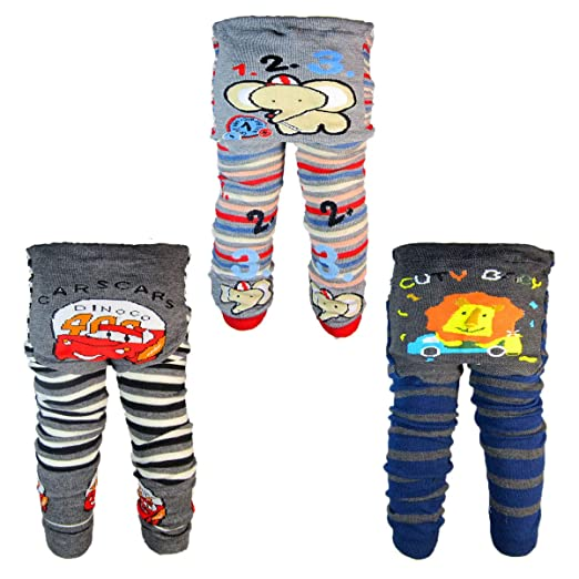 3 Pants 0-24 Months Baby Boys Toddler Leggings Trousers Knitted Pants