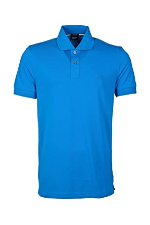 BOSS Hugo Negro Polo para Hombre, Logotipo de Color Azul Firenze ...