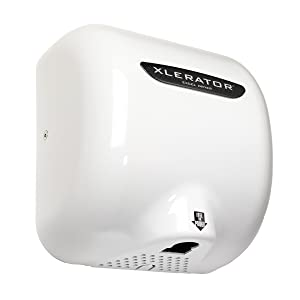 XLERATOR XL-BW Automatic High Speed Hand Dryer with White Thermoset Plastic Cover and 1.1 Noise Reduction Nozzle, 12.5 A, 110/120 V