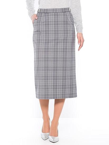 Charmance-Falda talla regulable, estatura de 1, 60 m Ecossais gris ...