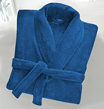 Casabella Uni Sex 100/% Cotton 500 Gsm Terry Towelling Hooded Bath Robe Dressing Gown/_White/_Small//Medium