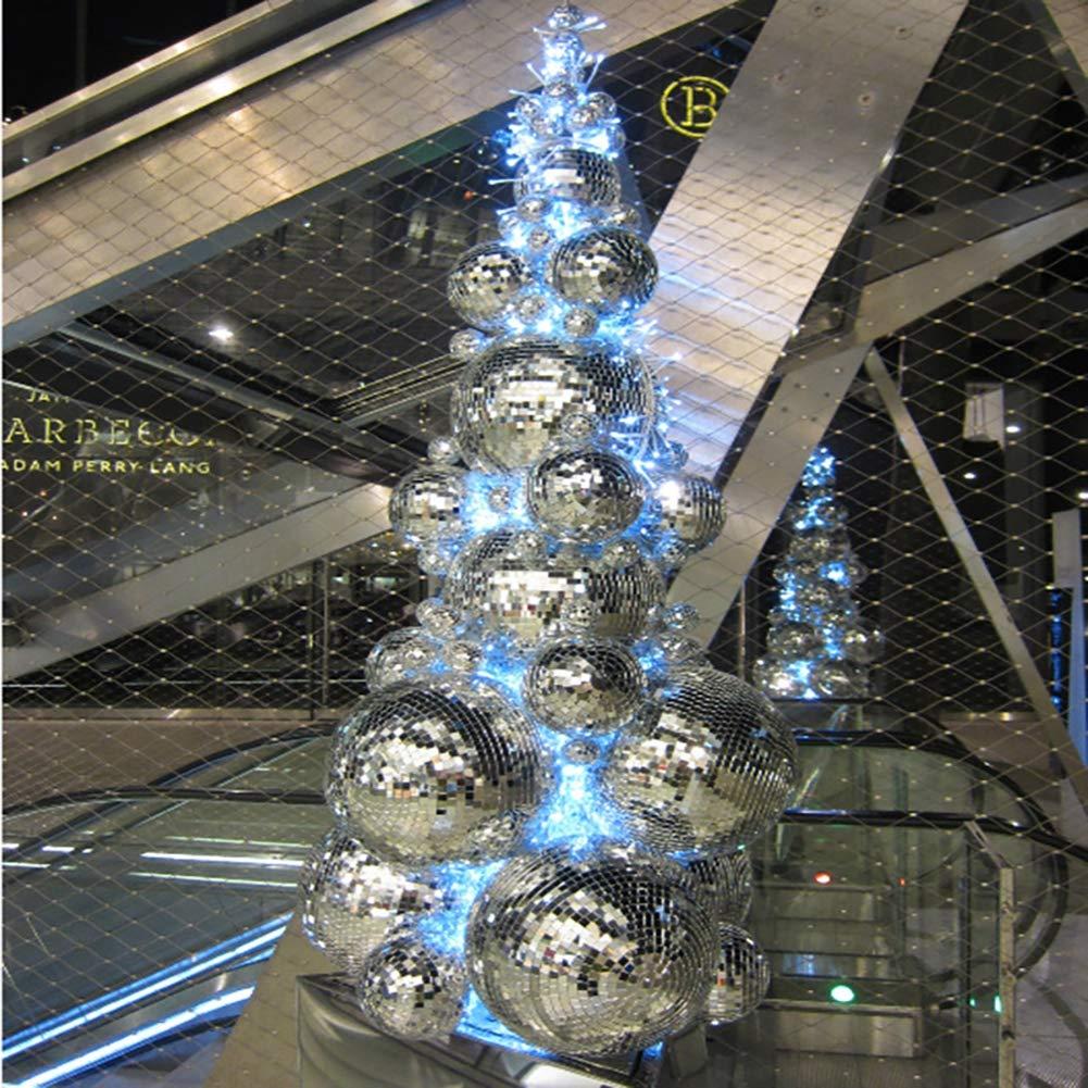 Effet d/éclairage boule de miroir disco l/éger babioles boule d/écorations darbre de no/ël partie pendentif babioles