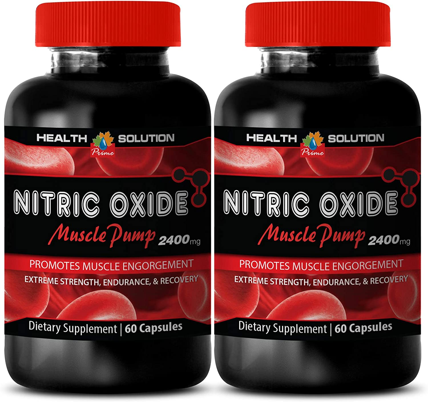 Nitric Oxide Weight Loss Pills for Men Muscle Grow - Nitric Oxide Muscle Pump 2400MG - Increase Testosterone Levels (2 Bottles)