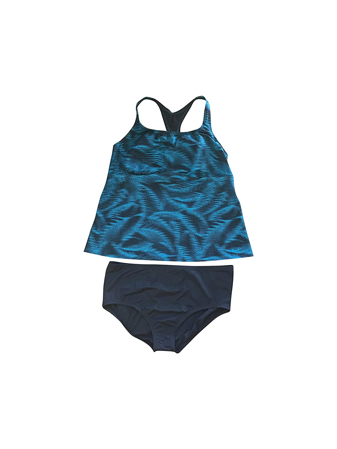 Grey Turquoise Nike Women's Tankini Athletic TwoPiece Swimsuit