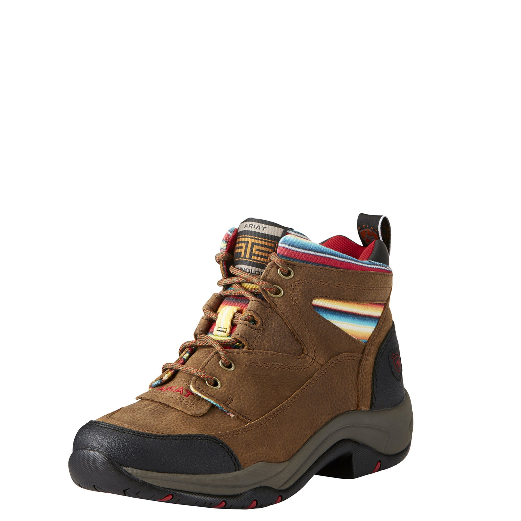 Ariat Women's Terrain Work Boot, Walnut/Serape, 9 B US