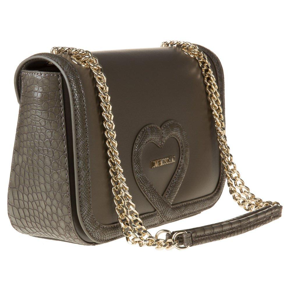 Love Moschino Chain Heart Womens Handbag Grey by Love Moschino (Image #2)