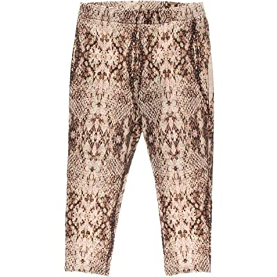 Bar III Women's Snake-Print Cropped Leggings