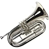 Advanced Monel Pistons Marching Baritone Key of Bb w/Case & Mouthpiece-Nickel Plated Finish