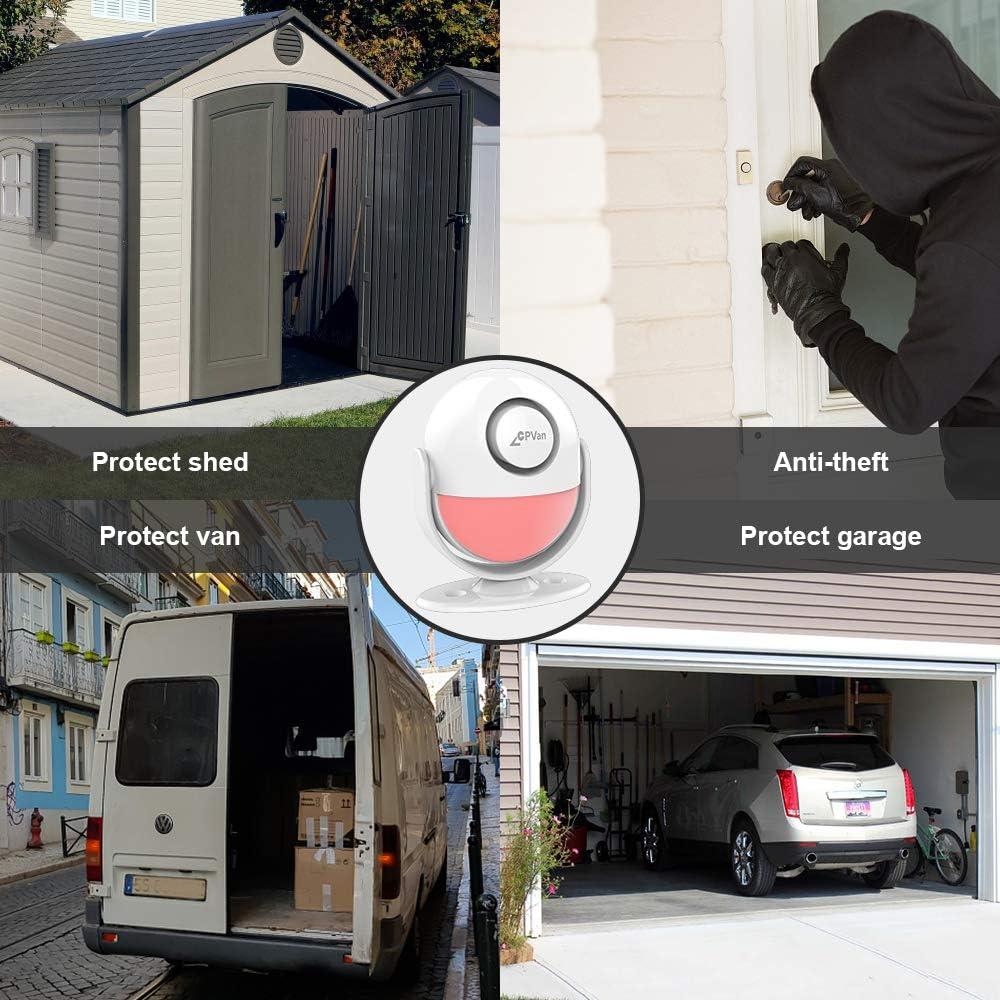 CPVAN 125dB Sensor de Alarma para Casa Kits Alarmas Hogar Inalámbrica CP2